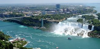 Lato di U.S.A. di cascate del Niagara Fotografia Stock Libera da Diritti
