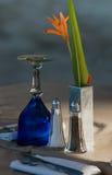 Lato Dinning della spiaggia immagine stock libera da diritti