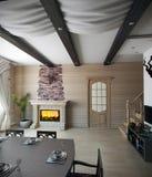 Lato domu jadalnia, 3d rendering Fotografia Stock