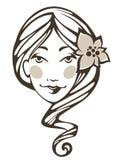 Lato dziewczyna royalty ilustracja