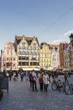 Lato est del quadrato del mercato, Wroclaw Fotografia Stock