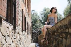 Lato fotografia śliczna kobieta Fotografia Royalty Free