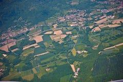 Lato francese del paese Fotografia Stock