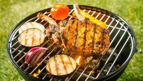 Lato grill z wieprzowin cutlets Fotografia Stock