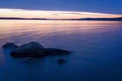 Lato jeziora krajobraz Zdjęcie Stock