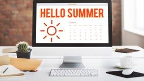 Lato kalendarza rozkładu zabawy szczęścia pojęcie fotografia royalty free