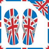 Lato kapcie z Anglia flaga projektem 10 eps ilustracyjny osłony wektor ilustracji