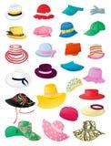 Lato kapelusze royalty ilustracja