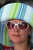 lato kapeluszowa kobieta fotografia stock