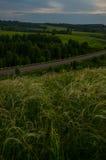 Lato karmazynów zmierzch Fotografia Stock