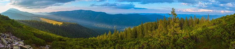 Lato Karpacka góra, Ukraina Obrazy Royalty Free