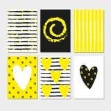 Lato karty ręka rysujący kaligraficzny set Wektorowe inkasowe lato karty Obraz Royalty Free