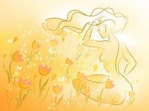 lato kobieta Ilustracji
