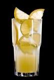 Lato koktajl owoc i cytrus na czerni Fotografia Stock
