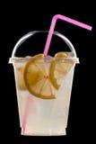 Lato koktajl owoc i cytrus na czerni Zdjęcie Stock