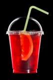 Lato koktajl owoc i cytrus na czerni Obrazy Royalty Free