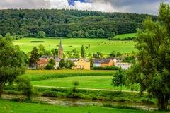 Lato krajobraz blisko Diekirch, Luksemburg Zdjęcia Stock