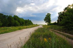lato krajobraz w Chernozemye, Rosja Obrazy Stock