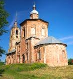 Lato krajobraz w Suzdal, Boris i Gleba kościół, Fotografia Stock