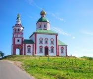 Lato krajobraz w Suzdal, Elias kościół Obraz Stock
