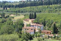 Lato krajobraz w Tuscany obraz royalty free