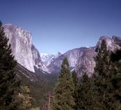 lato krajobrazowa dolina Yosemite Zdjęcie Stock