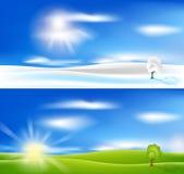 lato krajobrazowa zima ilustracji