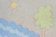 Lato krajobrazowy rysunek w piasku Obraz Stock
