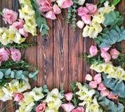 Lato kwiecista rama kwiaty - piękny pomysł konfekcyjny kwiatu układ obrazy royalty free