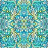Lato Kwiecisty Wektorowy Kolorowy ornament Royalty Ilustracja