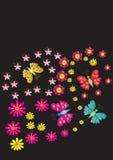 Lato kwitnie z motylami Zdjęcie Stock