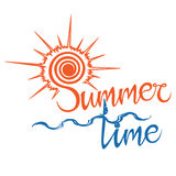 Lato loga czas, cieszy się twój wakacje Obraz Royalty Free