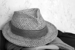 Lato mężczyźni kapeluszowi Wyśmienity styl fotografia stock