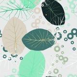 Lato mennica i błękitny tropikalny las opuszczamy jaskrawego trybowego bezszwowego wzór dla fashoin tkaniny, tapety książka, kart Zdjęcie Stock