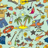 Lato, morze, lato tła odcisku palca ilustracyjny biel Zdjęcia Stock