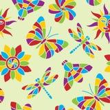 Lato mozaiki bezszwowy wzór Obraz Royalty Free