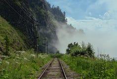 Lato na Baikal drodze Obrazy Royalty Free