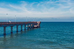 Lato na morzu, Zelenogradsk, Kaliningrad, Rosja morze bałtyckie, lato i molo, pogodny, biały, Zdjęcia Stock