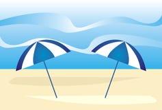 lato na plaży royalty ilustracja