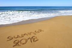 Lato 2018 na plaży Obrazy Stock