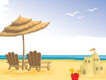 lato na plaży Fotografia Royalty Free
