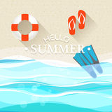 Lato nadmorski wakacje ilustracja Obrazy Royalty Free