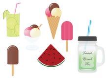 Lato napoje i jedzenie Fotografia Stock