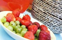 Lato napoje i owoc Obraz Stock