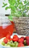 Lato napoje i owoc Zdjęcie Stock