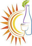 Lato napoju logo Zdjęcie Stock