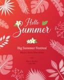 Lato Naturalny plakat, plakat, tło z Ramową Wektorową ilustracją, ulotki lub zaproszenia ilustracja wektor