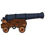 Lato navale di vista del cannone Immagini Stock