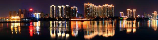 Lato nocy widoku panorama Zdjęcie Stock