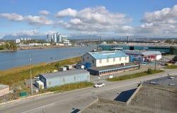 Lato nord di Richmond, Columbia Britannica e di Vancouver del sud fotografie stock libere da diritti